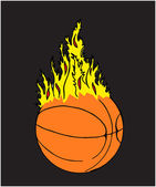 Basketball - Ball on Fire — Stock Vector