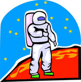 Astronaut in Space — Stock Vector