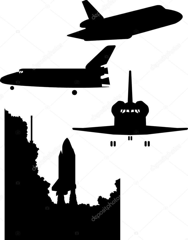 Space Shuttle Silhouette