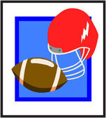 Ball & Helmet Design — Stock Vector