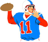 Quarterback — Stock Vector