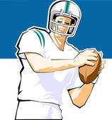 Quarterback Symbol — Stock Vector