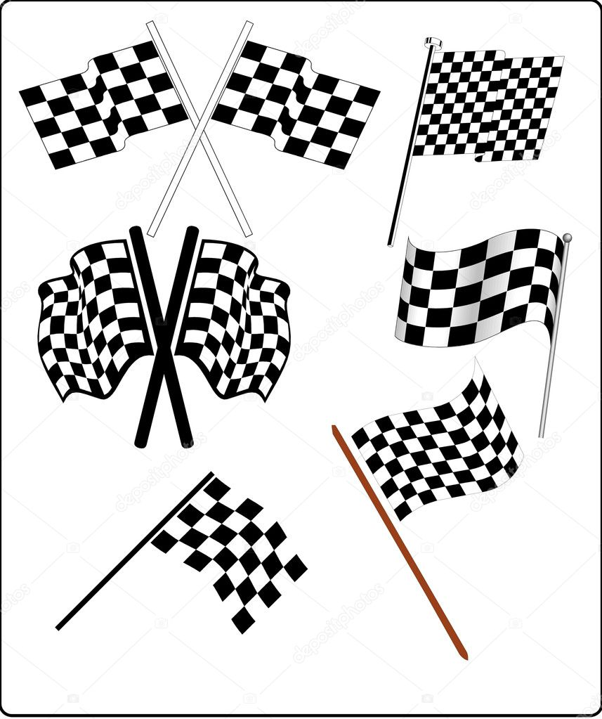 Auto Racing - Flags — Stock Vector #6280171