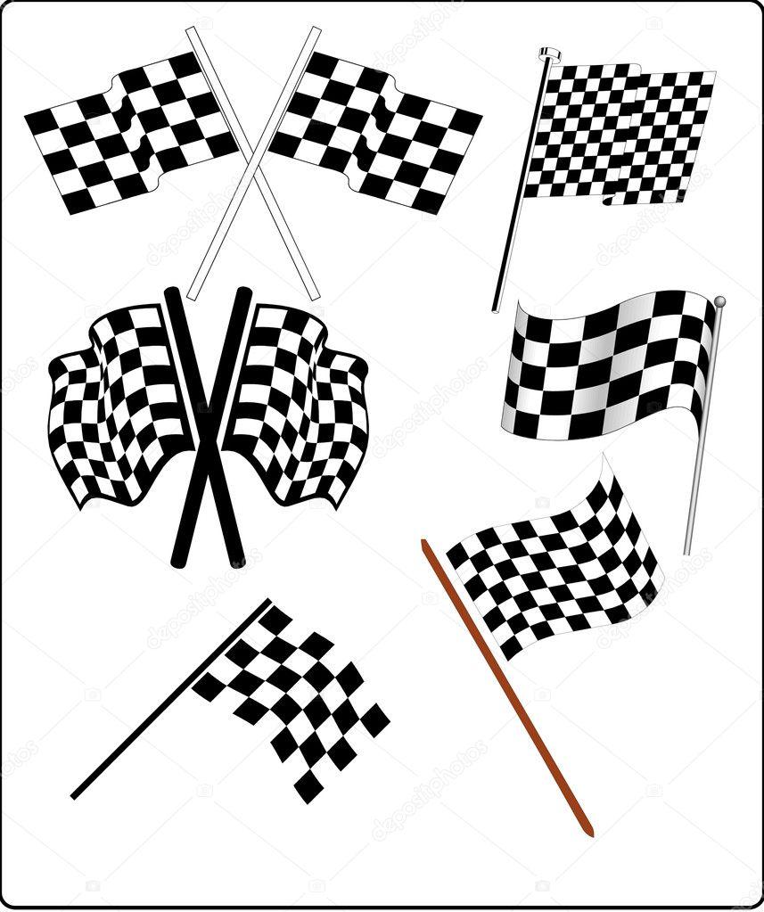 Car+racing+flags