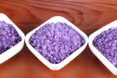 Lavender spa salt — Stock Photo