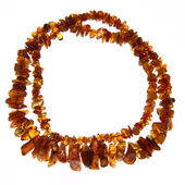 Amber necklace — Stock fotografie