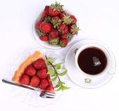 Jahodový koláč — Stock fotografie
