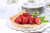 Crostata di fragole — Foto Stock