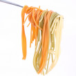 Spaghetti on a fork — Stock Photo