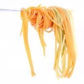 Spaghetti on a fork — Stock Photo