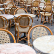 Stock Photo: Street view of Cafe terrace