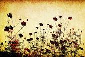 çiçek tarzı dokular ile metin veya resim için yer — Stok fotoğraf