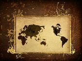 World map vintage artwork — Stock Photo