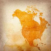 Invecchiato america mappa-annata opera d'arte — Foto Stock