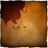 Ve věku asie mapa grunge kresby — Stock fotografie