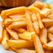 Golden French fries — Stock Photo #5708484