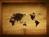 Dünya harita vintage — Stok fotoğraf