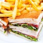 Sandwich with chicken — Stock Photo