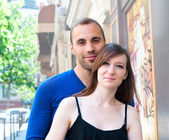 Young couple in love smiling — Stock Photo