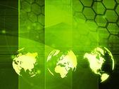Wereld kaart technologie stijl — Stockfoto