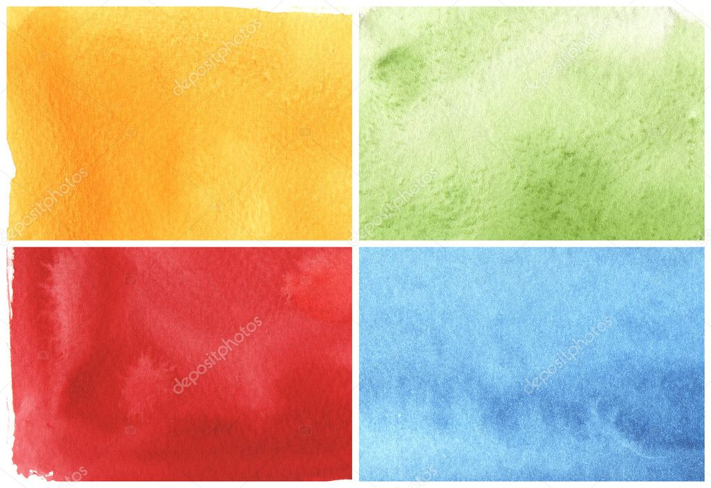 Watercolor paints on a rough texture paper — Stock Photo #5871704