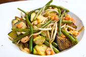 A plate of asian cuisine — Stock Photo