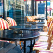 street view of a cafe terrace — Stock Photo