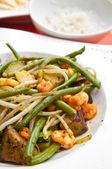 Asian cuisine with beans — Stock Photo
