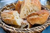 Bread in basket — Stock Photo