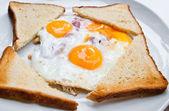 Prepared Egg with Toas — Stock Photo