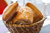 Bread in basket — Photo
