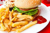 Cheese burger — Stock Photo