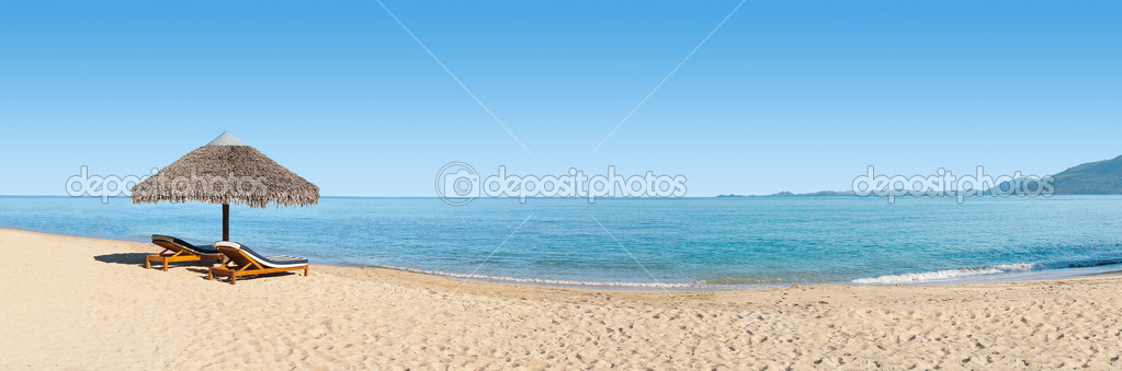 Hamacas en el banner de playa fotos de stock pierivb 6326689 - Fotos de hamacas en la playa ...