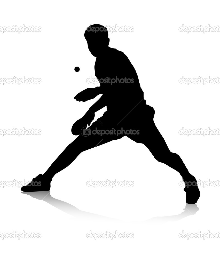 Table Tennis Player Stock Vector 169 Grum L 6521040