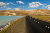 Empty route - Iceland, Myvatn area. — Stock Photo