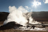 Steam at high pressure Namafjall in Iceland. — Stock Photo