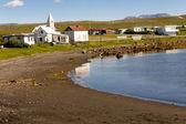 Porshofn village. North part of Iceland. — Stock Photo