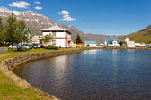 Small icelandic village - Seydisfjordur — Stock Photo