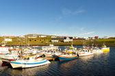 Colorful fishing boat - Djupivogur, Iceland — Stock Photo