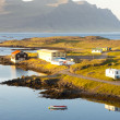 Stock Photo: Typical icelandic landscape - Djupivogur village