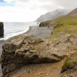 Rocky coastline in Hvalnes area - Iceland — Stock Photo