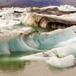 Glacier ice - Jokulsarlon lake - Iceland — Stock Photo