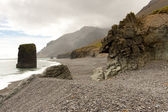 Beauty, rocky coastline - Hvalnes area - Iceland — Stock Photo