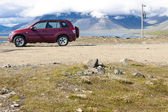 Travelling by 4x4 car in Iceland, Hvalnes — Stock Photo