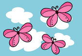 Butterfly on the sky - Vector — Stockvektor