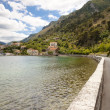 Route on coast in Kotor bay - Montenegro — Stock Photo