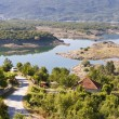 Village and Slano lake in Montenegro, Niksic — Stock Photo