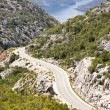 Aerial view on route to Risan. Montenegro — Stock Photo