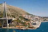 Modern bridge, Dubrovnik Croatia — Stock Photo