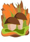 Dwa grzyby jadalne - wektor — Wektor stockowy